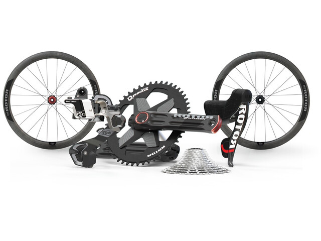 Rotor 1x13 Groupset with 2INPower Crank and C45 Carbon SL Wheelset black
